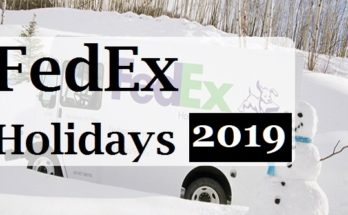 FedEx Holidays hours 2019