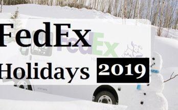 FedEx Holidays hours 2019
