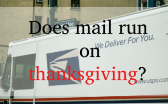 does mail run on thanksgiving