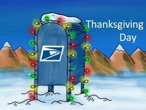 usps on thanksgiving day